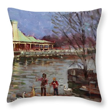 Early Spring In Portcredit Mississauga Throw Pillow