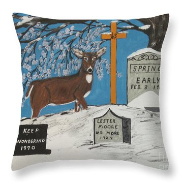 Early Spring Throw Pillow by Jeffrey Koss