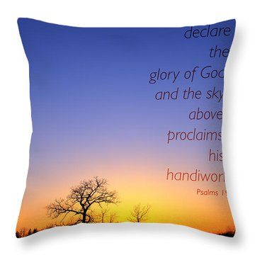 Early Spring Oak Psalms 19 Throw Pillow