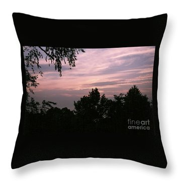 Early Sunrise In Central Illinois Throw Pillow