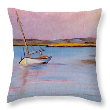 Early Sunset Throw Pillow by Trina Teele