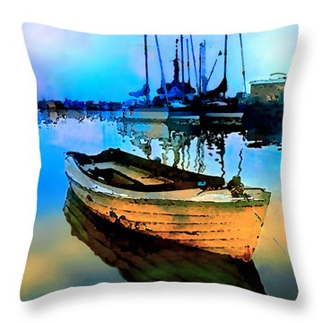 Early Tide Throw Pillow by Barbara D Richards
