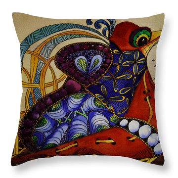 Early Worm Gets The Bird Throw Pillow