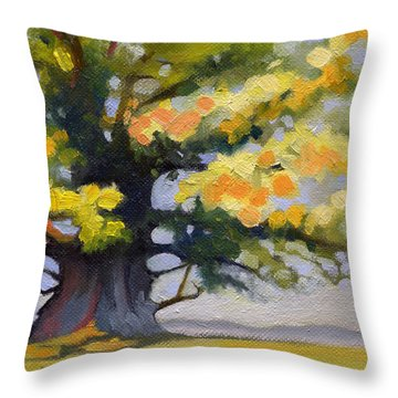 Earlysville Virginia Ancient White Oak Throw Pillow by Catherine Twomey