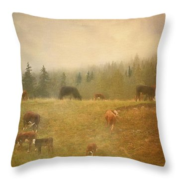 Early Morning  Throw Pillow by Betty  Pauwels