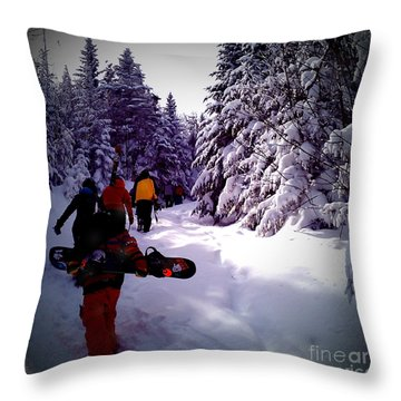 Throw Pillow featuring the photograph Earning Turns by James Aiken