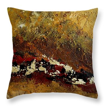 Earth Abstract Four Throw Pillow by Lance Headlee