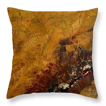 Earth Abstract Two Throw Pillow by Lance Headlee