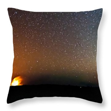 Earth And Cosmos Throw Pillow