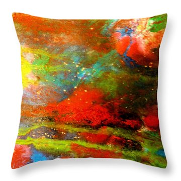 Earth And Sky Abstract Throw Pillow