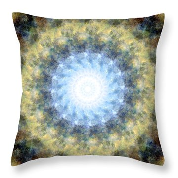 Earth And Sky Mandala Kaleidoscope Throw Pillow