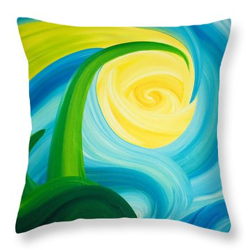 Earth And Sky Meet Throw Pillow by Ginny Gaura