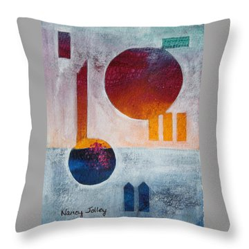 Earth And Sky Throw Pillow by Nancy Jolley