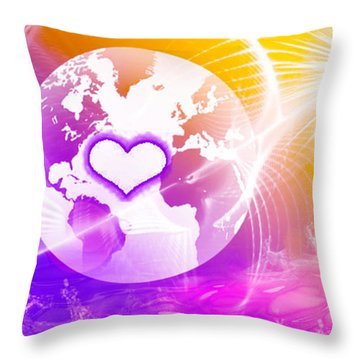 Earth Ascending Throw Pillow by Ute Posegga-Rudel