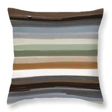 Earth Colors Throw Pillow by Lourry Legarde