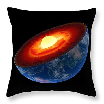 Earth Core Structure To Scale - Isolated Throw Pillow