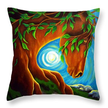 Earth Elder Throw Pillow