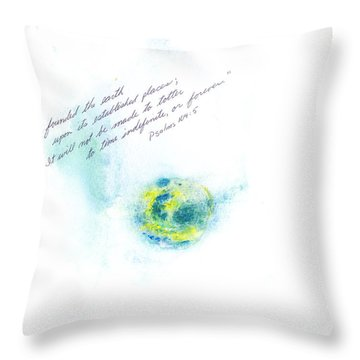 Earth Forever Throw Pillow by B L Qualls