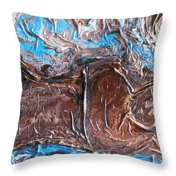Earth Goddess Throw Pillow by Angela Stout