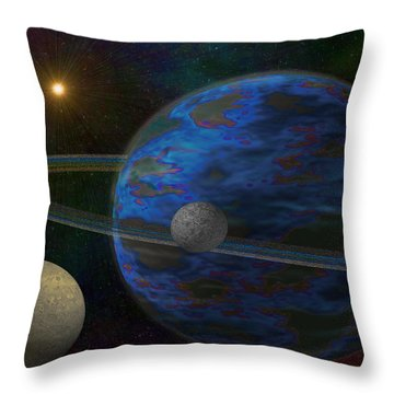 Earth-like Throw Pillow