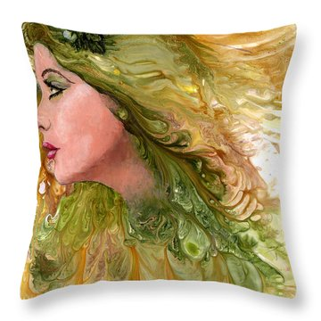 Earth Maiden Throw Pillow