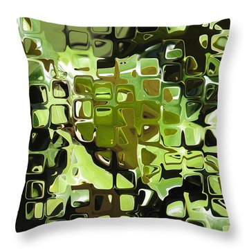Earth Music Throw Pillow by Wendy J St Christopher