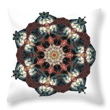 Earth Nest Throw Pillow by Lisa Lipsett
