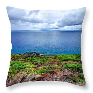 Earth Sea Sky Throw Pillow