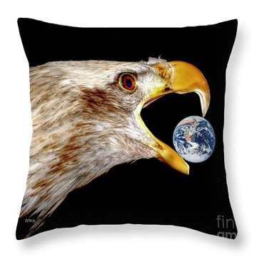 Earth Shattering Influence Throw Pillow