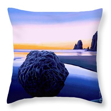 Earth Sunrise Throw Pillow