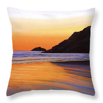 Earth Sunrise Sea Throw Pillow