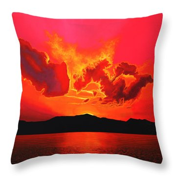 Earth Sunset Throw Pillow