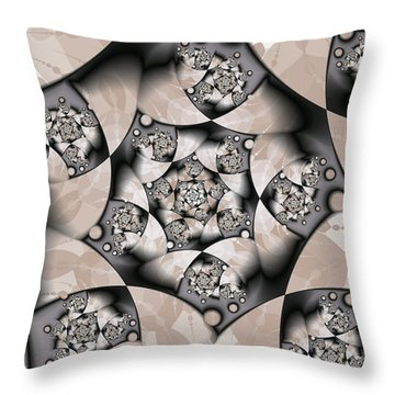Throw Pillow featuring the digital art Earth Tones by Gabiw Art