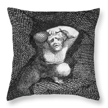Earth Throw Pillow by William Blake