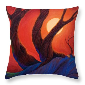 Throw Pillow featuring the painting Earth  Wind  Fire by Sandi Whetzel