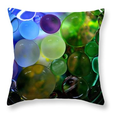 Throw Pillow featuring the photograph Earthly Bubbles by Christine Ricker Brandt