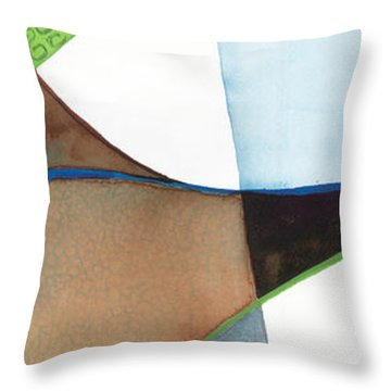 Earthly Figure Throw Pillow