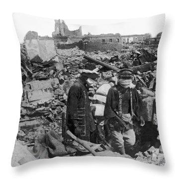 Earthquake Ruins In Yokohama Throw Pillow