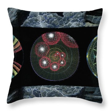 Earth's Beginnings Throw Pillow by Keiko Katsuta