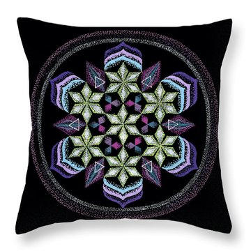 Earth's Forgiveness Throw Pillow by Keiko Katsuta