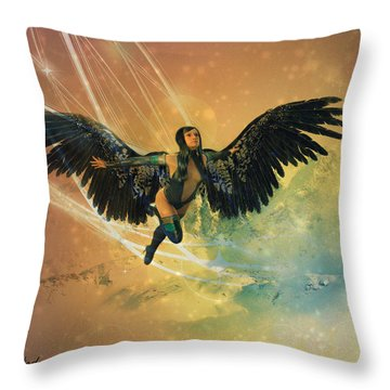 Earth's Guardians Throw Pillow by Riana Van Staden