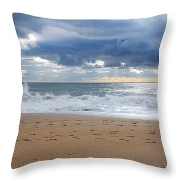 Earth's Layers - Jersey Shore Throw Pillow