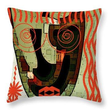 Earthy Woman Throw Pillow