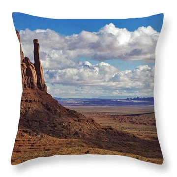 Throw Pillow featuring the photograph East And West Mittens by Jerry Fornarotto