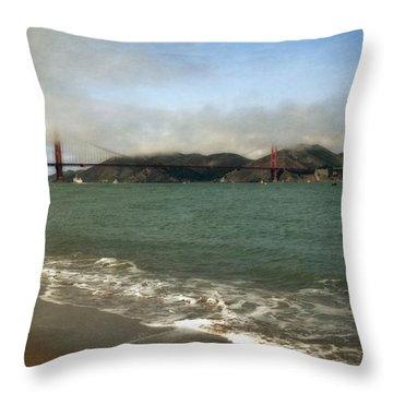 East Beach And Golden Gate Throw Pillow