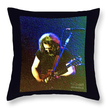 Grateful Dead - East Coast Tour - Jerry Garcia Throw Pillow