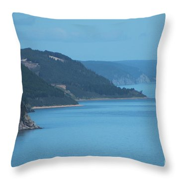 East Coast Shoreline Throw Pillow
