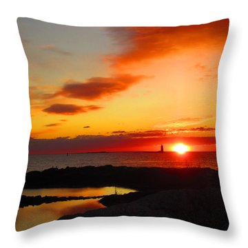 East Coast Sunrise  Throw Pillow