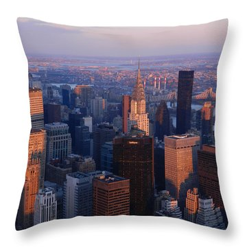 East Coast Wonder Aerial View Throw Pillow