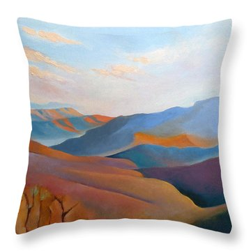 East Fall Blue Ridge No.3 Throw Pillow by Catherine Twomey